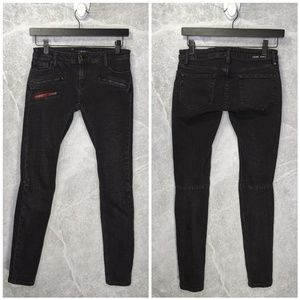 Etienne Marcel Black Skinny Jeans Multi Re…